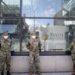 全美各地華裔預備役軍人 馳緩紐約賈維茨方艙醫院