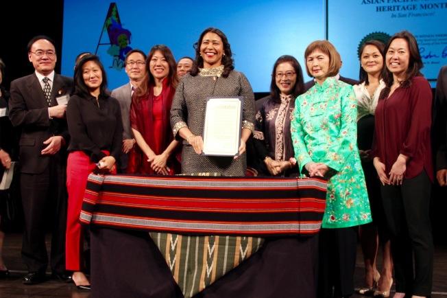 2019年亞太裔文化月開幕式,全城官員出席慶祝。今年將改為線上慶祝。(記者李晗╱攝影)