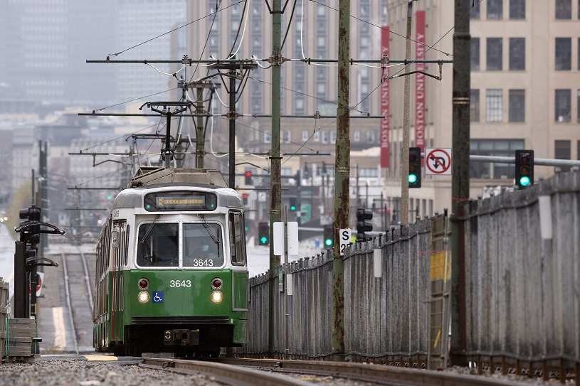 圖為波士頓綠線。(美聯社)