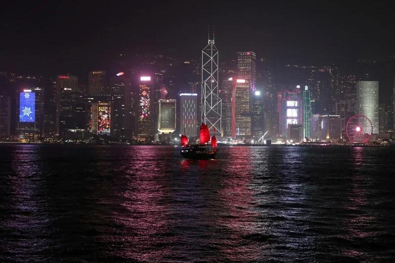 香港天際線。路透