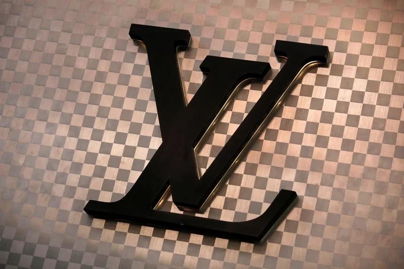 精品品牌路易威登(LV)商標。路透