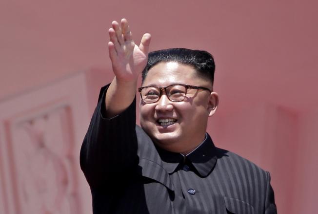 北韓領導人金正恩神隱20天後,終於公開露面了。圖為2018年資料照片。美聯社