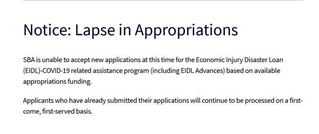 聯邦經濟傷害災難貸款已不接受新的申請。(記者劉先進 /攝影)