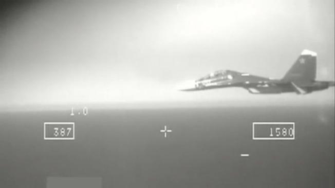 图为俄罗斯战机闯入北约防空识别区。 图/欧新社