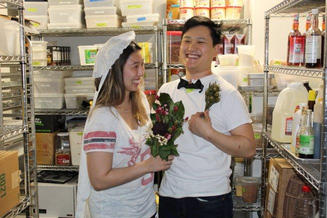 羅倫和凱勒原定的婚禮被疫情打亂,但田凱文團隊為他們精心策畫了一場驚喜,給這對新人留下難忘回憶。(Emilie's DC提供)