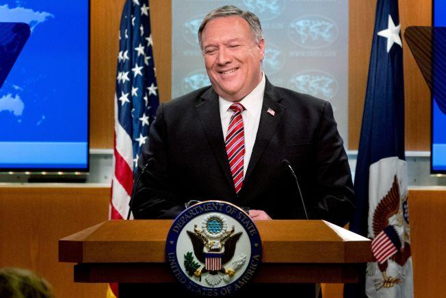 美國國務卿龐培歐(Michael Pompeo)。Getty Images