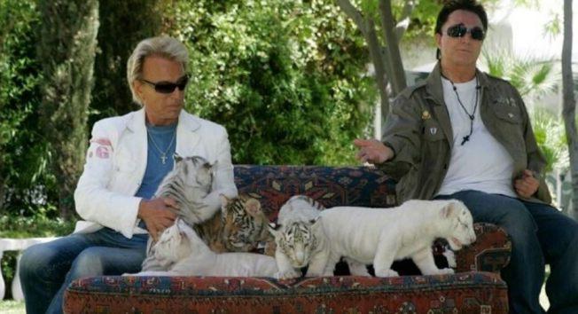 齊格菲(左)和洛伊不但是表演的搭檔,也是人生中的伴侶。(路透資料照片)