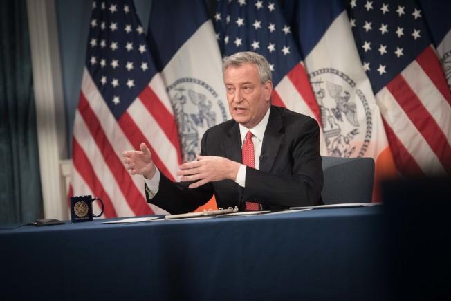 紐約市長白思豪。(市長辦公室提供)