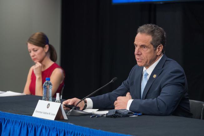 葛謨表示,紐約州因患新冠肺炎相關的多系統炎症反應綜合症的兒童病例數量已增至100人左右。(州長辦公室提供)