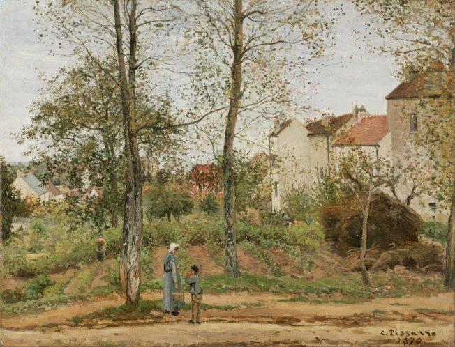 No. 6 畢沙羅以點描手法畫出陽光閃耀的鄉村風景。