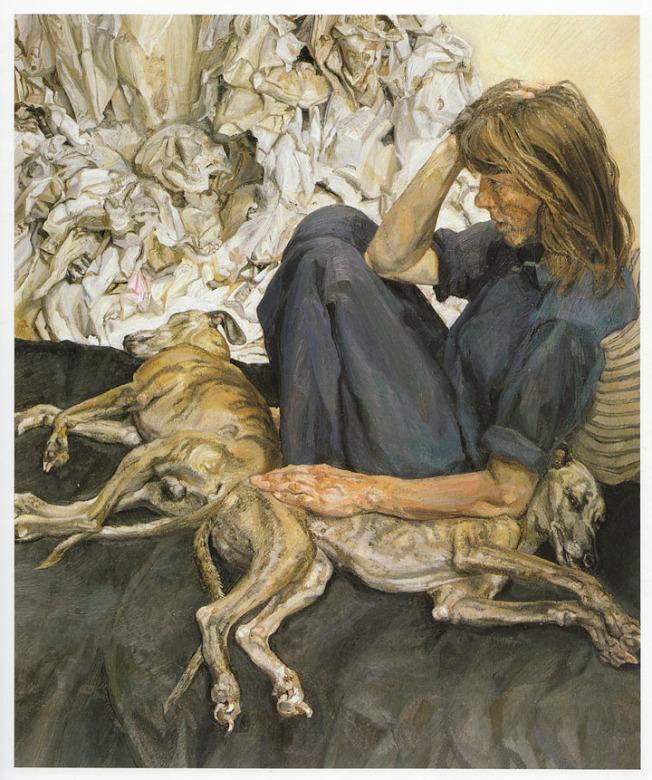 No. 9 魯西安.佛洛依德以粗獷的寫實人物崛起藝壇,每每把描繪對象畫得極醜。