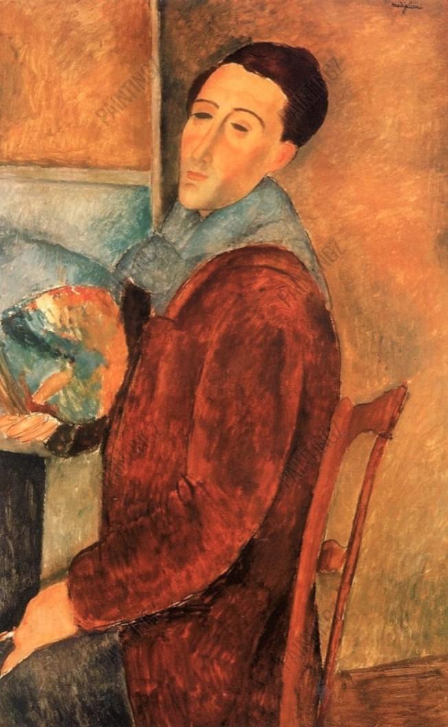 No. 7 莫迪利亞尼的自畫像。