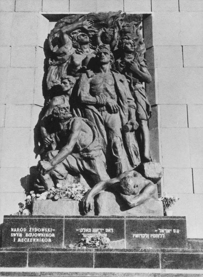 No. 12 華沙猶太隔離區起義紀念碑。