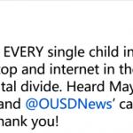 助屋崙5萬公校生擁有電腦網絡 推特執行長捐款1000萬