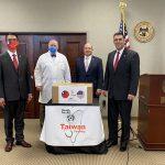 台贈密州10萬口罩 助醫護抗疫
