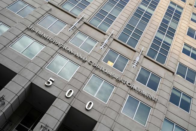 圖為位在大華府的美國聯邦移民及海關執法局( Immigration and Customs Enforcement)大樓。Getty Images