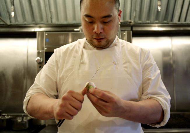 紐約知名餐館品牌「福桃帝國」創始人張大衛,宣布因疫情關閉兩家旗下餐廳。(美聯社)