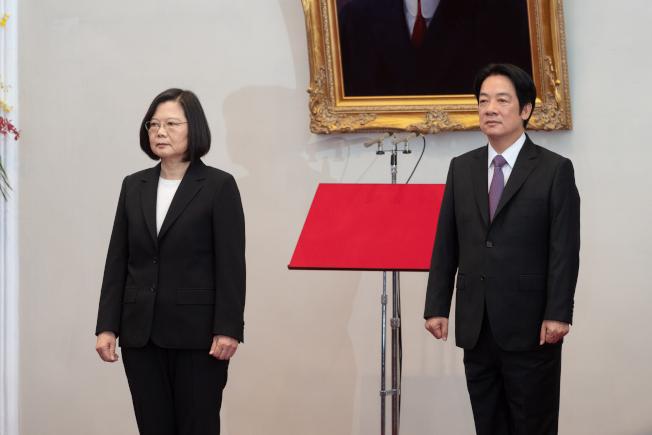 第15任總統、副總統宣誓就職典禮20日上午9時在總統府大禮堂舉行,在大法官許宗力監誓下,蔡英文總統與賴清德副總統就職。圖/總統府提供