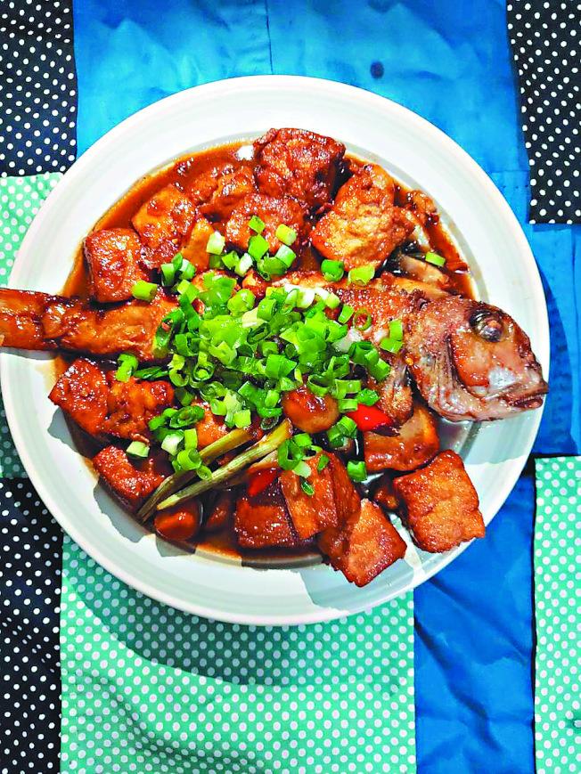 馬頭魚燒豆腐。(圖:劉玉華提供)