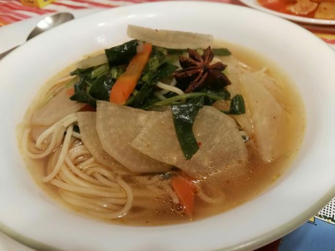 冬莧菜蘿蔔湯麵