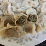 芹菜牛肉水餃及芹菜湯