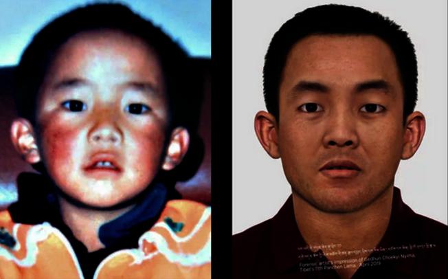 英國法醫藝術家蒂姆.威德借助科技模擬的第十一世班禪喇嘛30歲肖像。(取材自藏人行政中央官網)