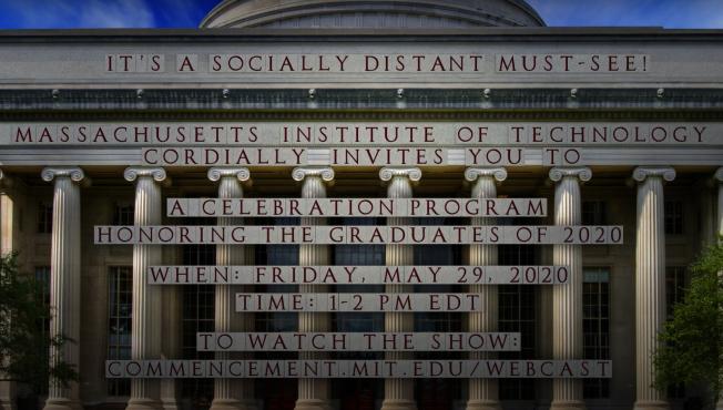 MIT製作視頻邀請觀看2020線上畢業典禮。(截圖自MIT官方頻道視頻)