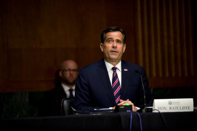 聯邦參院21日確認德州共和黨籍眾議員賴特克里夫為下任情報總監。圖為他本月5日出席參院情報委員會的任命聽證會。(路透)
