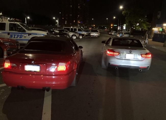 市警68分局日前在貝瑞吉執法中逮捕兩名涉嫌魯莽駕駛的男子。(市警提供)