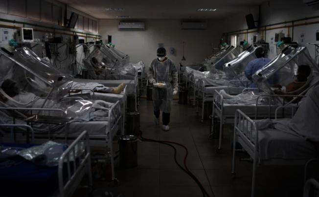 巴西病例數超出拉美各國,成為全球確診數第3高的國家。(美聯社)