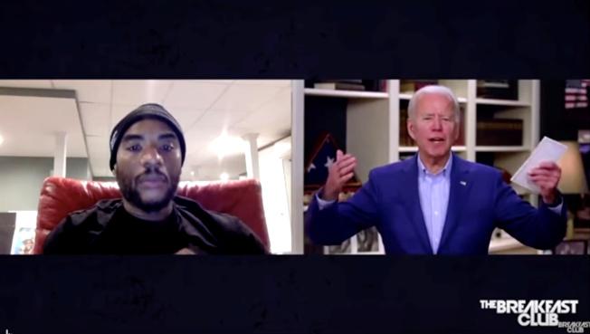 民主黨準總統提名人白登22日在訪談節目上爭取非洲裔選票時失言,隨後向非洲裔道歉。(路透)