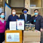 華商會、般若寺 捐贈市府防疫品