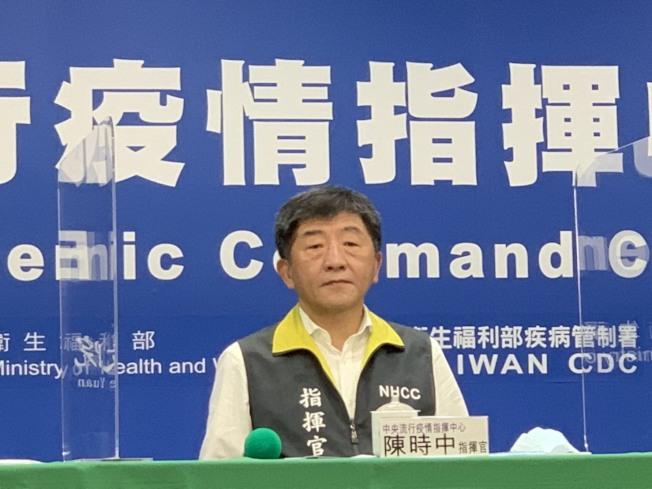 陳時中表示,台灣23日無新增病例。(記者陳雨鑫/攝影)