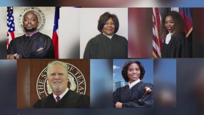被警員工會點名的五位法官。(FOX26電視台)