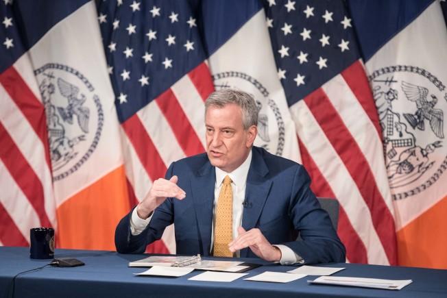 紐約市長周末開展社交距離大執法,繼續保持有望6月初重啟。(市長辦公室提供)