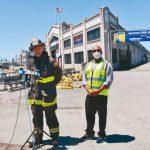金山漁人碼頭大火1/4倉庫被燒毀