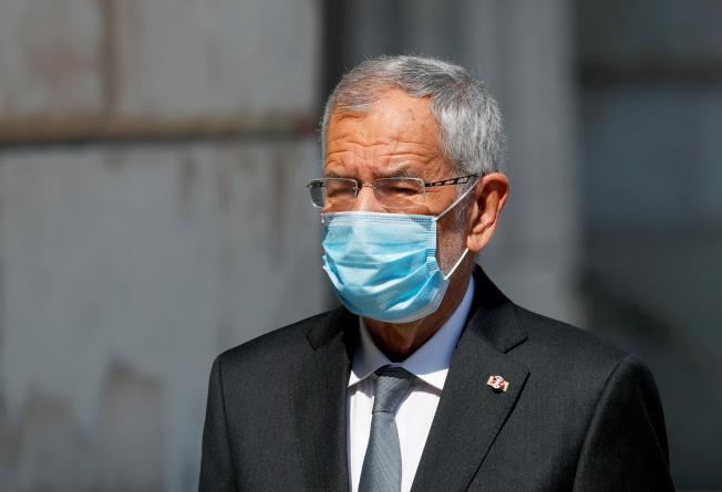 奧地利總統范德貝倫違反防疫規定。路透