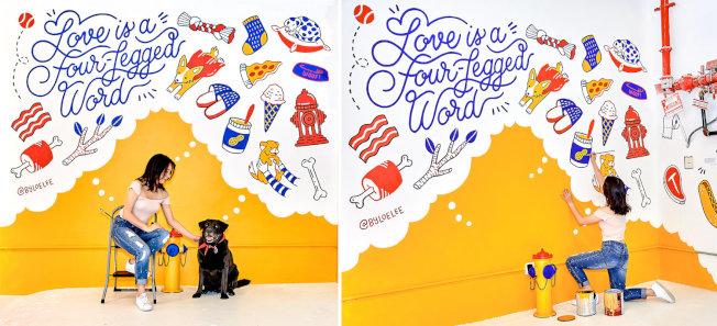 「歡迎來華埠」與在地插畫家和壁畫家李樓合作,將免費為八個受疫情影響的華埠店家作畫。(取自李樓個人網站)