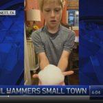 男童撿到「巨石」冰雹 氣象局都稱奇