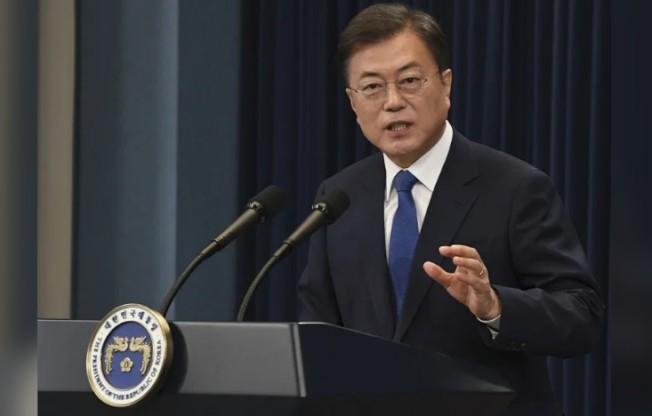 南韓總統文在寅。圖/歐新社