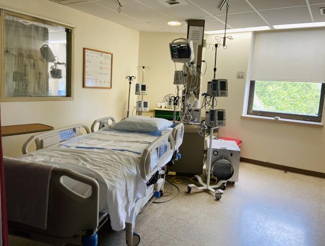 不少重症病房已無患者入住。(記者鄭怡嫣/攝影)