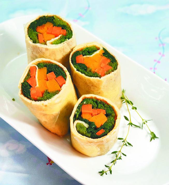 菠菜&胡蘿蔔南瓜和風蛋卷