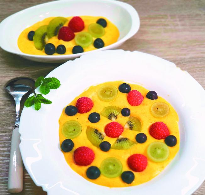 莓果烘焙地瓜卡士達醬