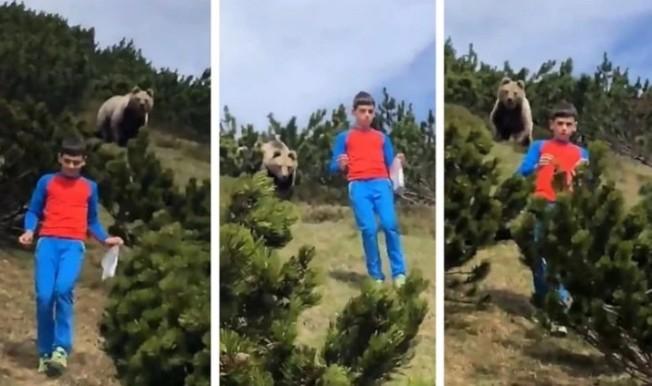 野外遭遇可怕的成年棕熊,就連成年人恐怕都難以全身而退,然而在義大利,一名12歲男孩卻做出了完美示範,不但保住自己的小命,也留下一段令人膽戰心驚的影片。CEN/@loriscalliari
