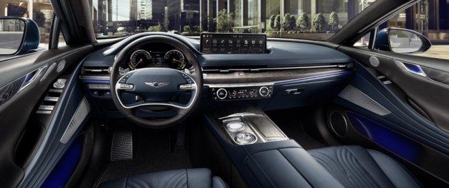 全新第三代Genesis G80車室。 (取自Hyundai)