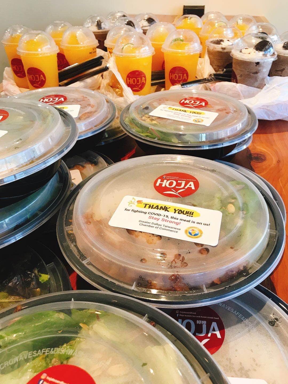 HOJA餐廳提供的美味餐點及飲料。
