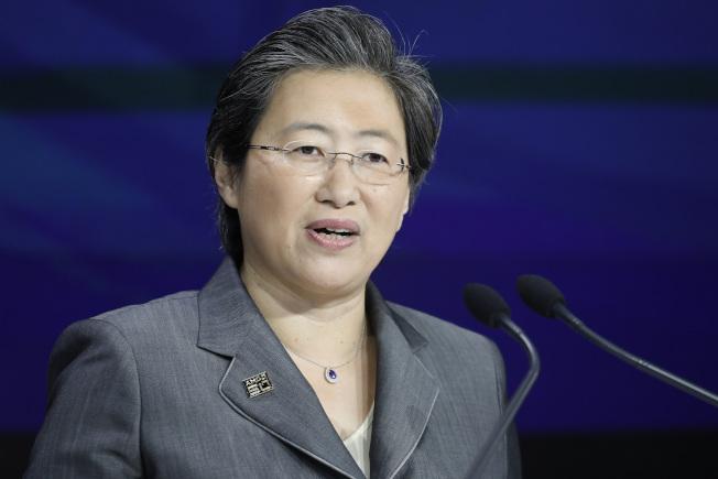 美聯社公布年度CEO薪酬調查,超微半導體華裔執行長蘇姿豐以5850萬元超高薪酬,成為排行榜首位女性第一。(美聯社)
