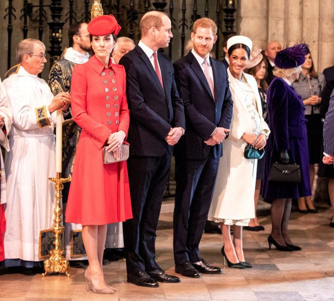 英皇室兩位王子的妻子被傳不合、有心結已久,近日雜誌報導更造成話題。(路透資料照)