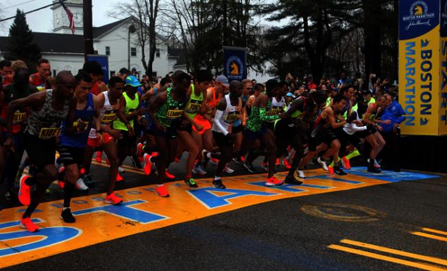 波士頓市府和體會協會認為因為疫情,今年9月或任何時候都「不可行」,決定取消今年的波士頓馬拉松賽事。(美聯社)