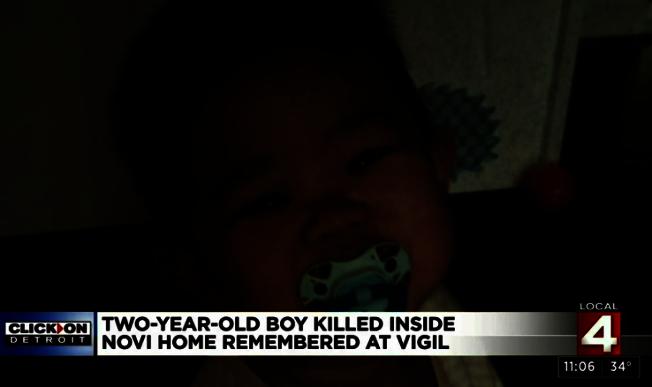 石春慧涉嫌揮刀殺死兩歲的幼子梅森;圖為梅森。(取自WDIV Local 4視頻)